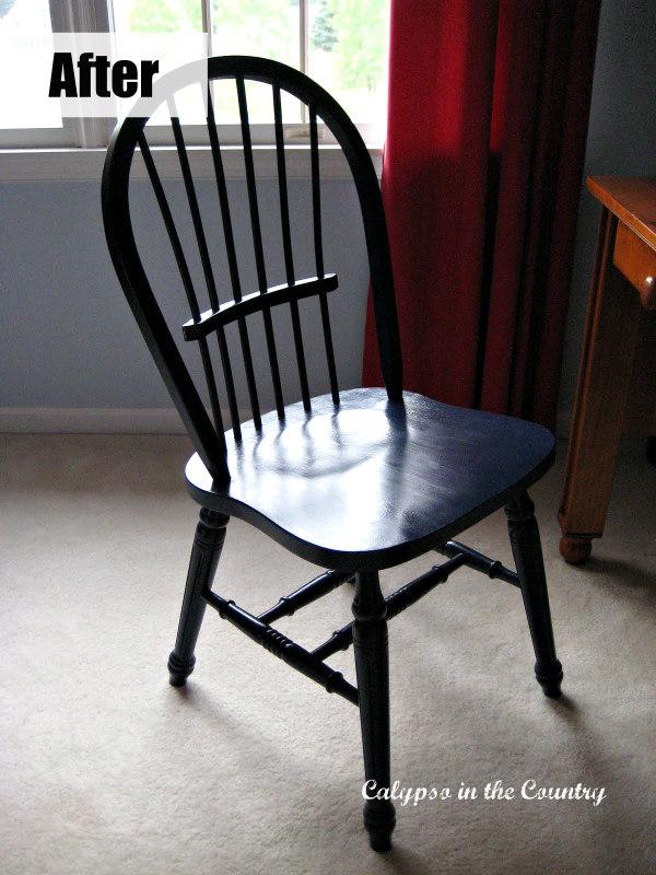 Windsor Chair painted Benjamin Moore Deep Royal