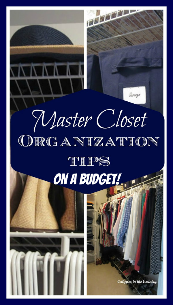 inexpensive tips to organize a closet