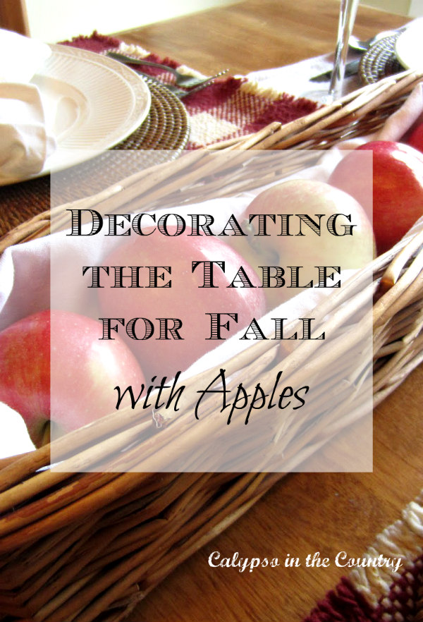 Decorating the Table for Fall with Apples
