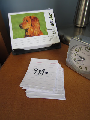 Flash cards for 3rd grade math