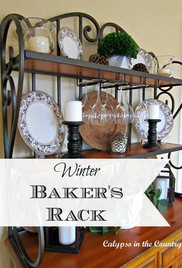 black and white on baker's rack
