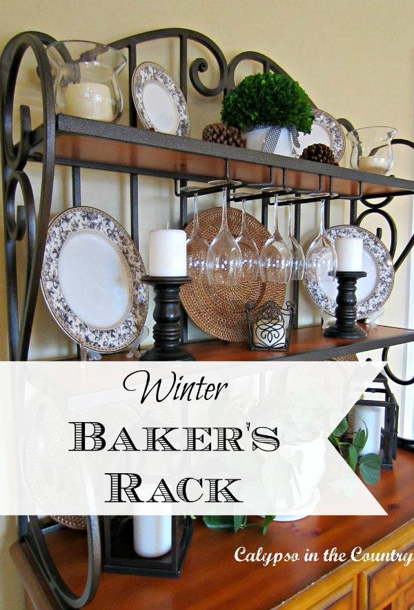 black and white on baker's rack