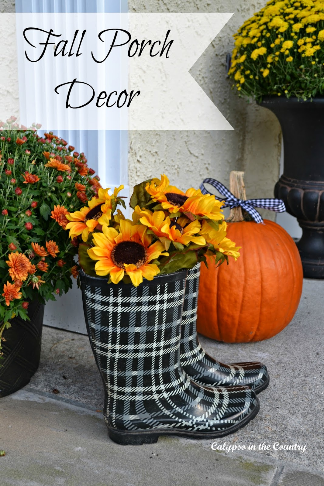 Colorful Fall Porch Decor