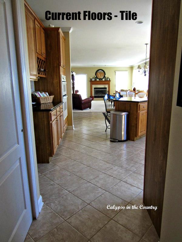 tile floor in kitchen - vs hardwood floors