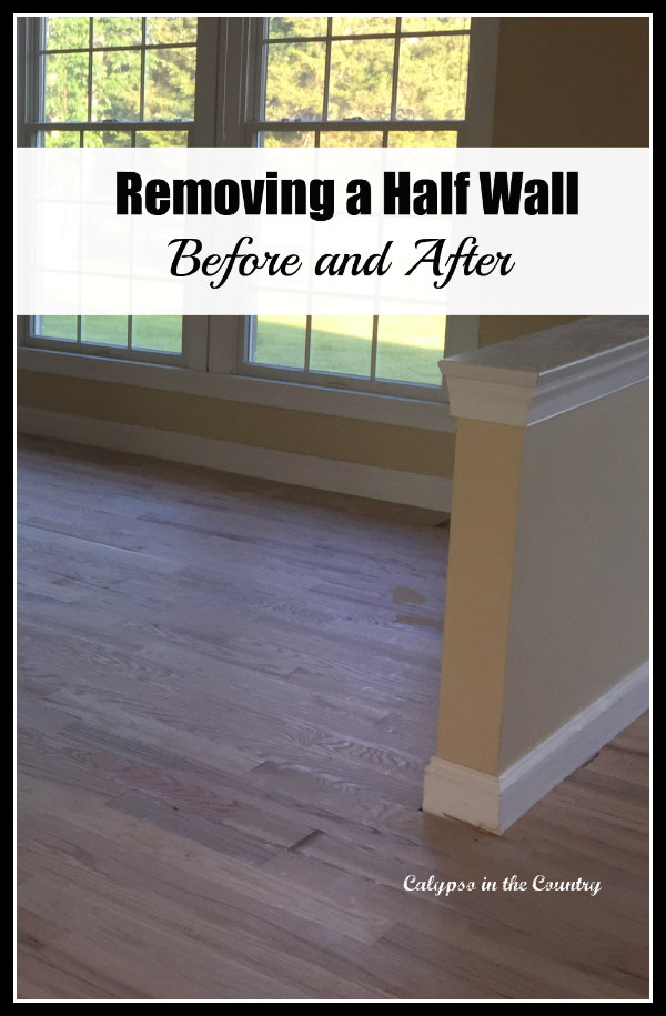 removing a half wall