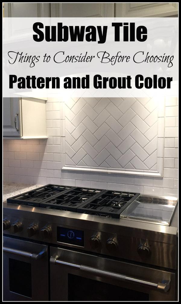 Herringbone Tile Backsplash - Things to Consider Before Choosing Pattern and Grout Color