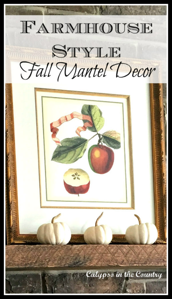 Farmhouse Style Fall Mantel Ideas