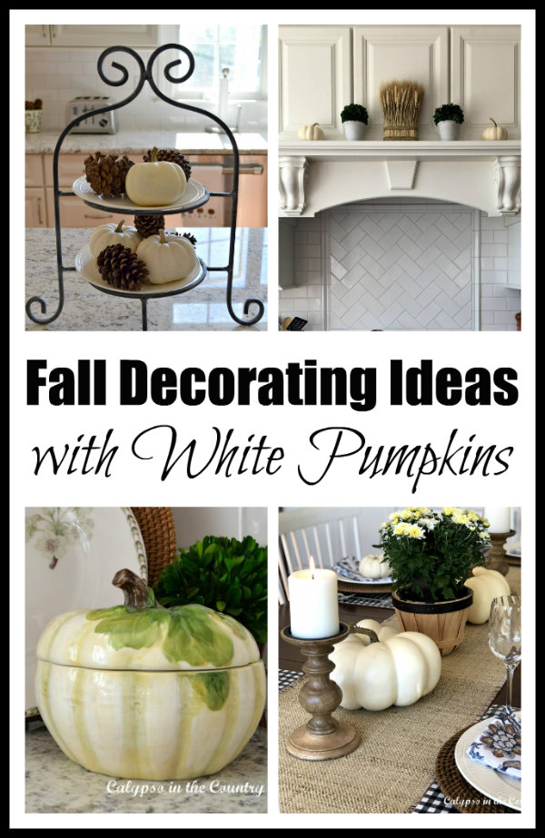Fall Decorating Ideas with White Pumpkins