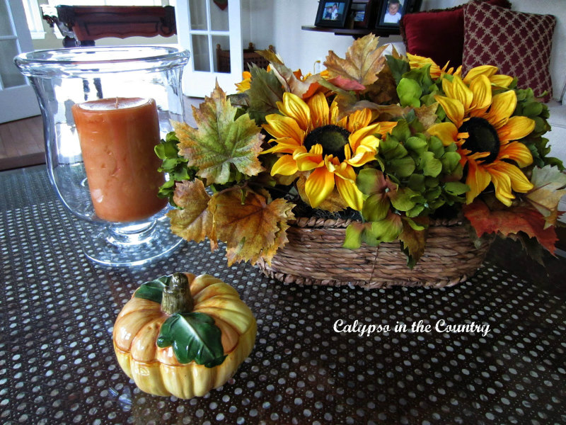 Fall Decorating with Sunflowers