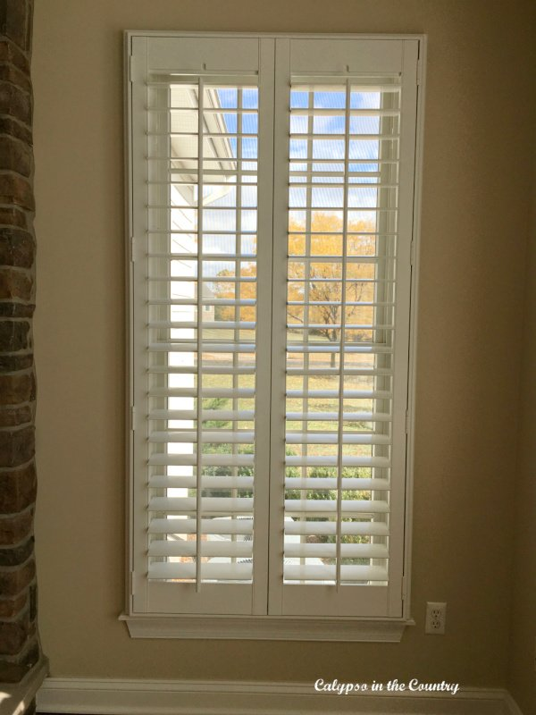 Plantation Shutters – Update to the Family Room