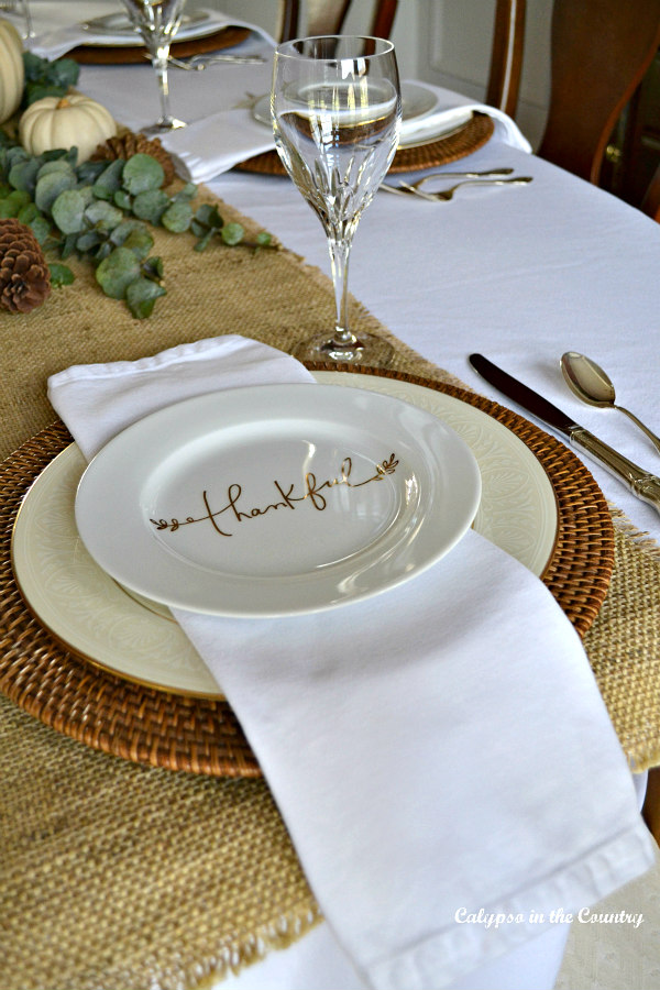 Thanksgiving Table Setting - How I Do Fall