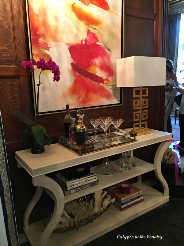 Bar Cart Inspiration from a Designer Showhouse