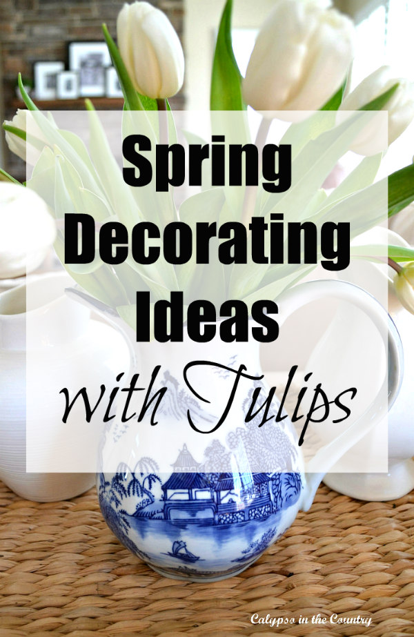 Spring Decorating Ideas with Tulips and Bunnies