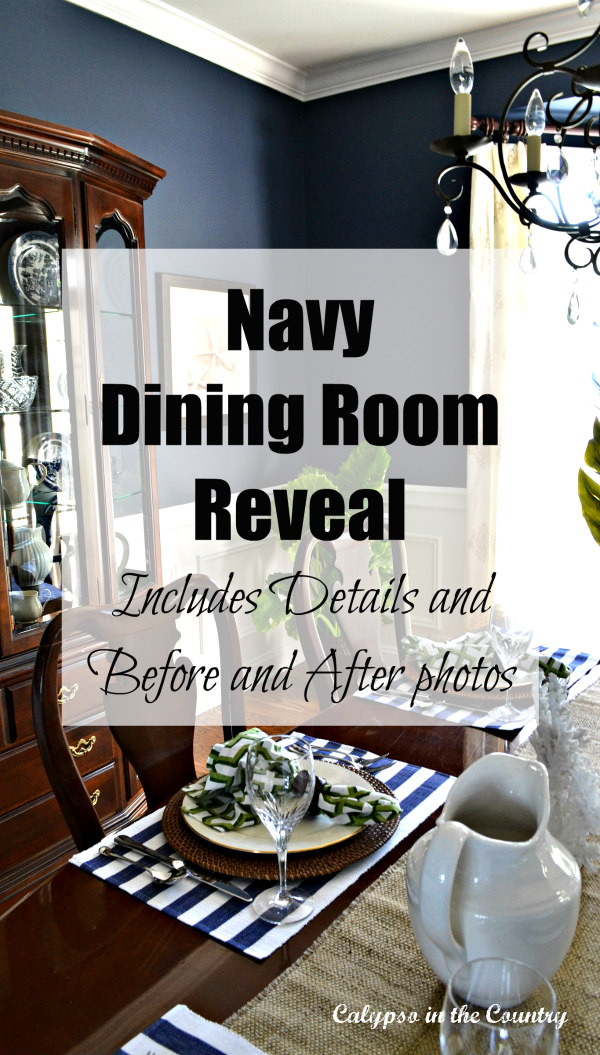 Navy Dining Room Reveal
