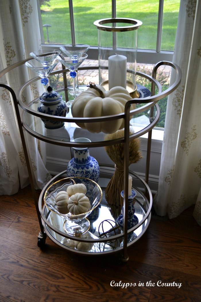 Bar cart decorating ideas for fall