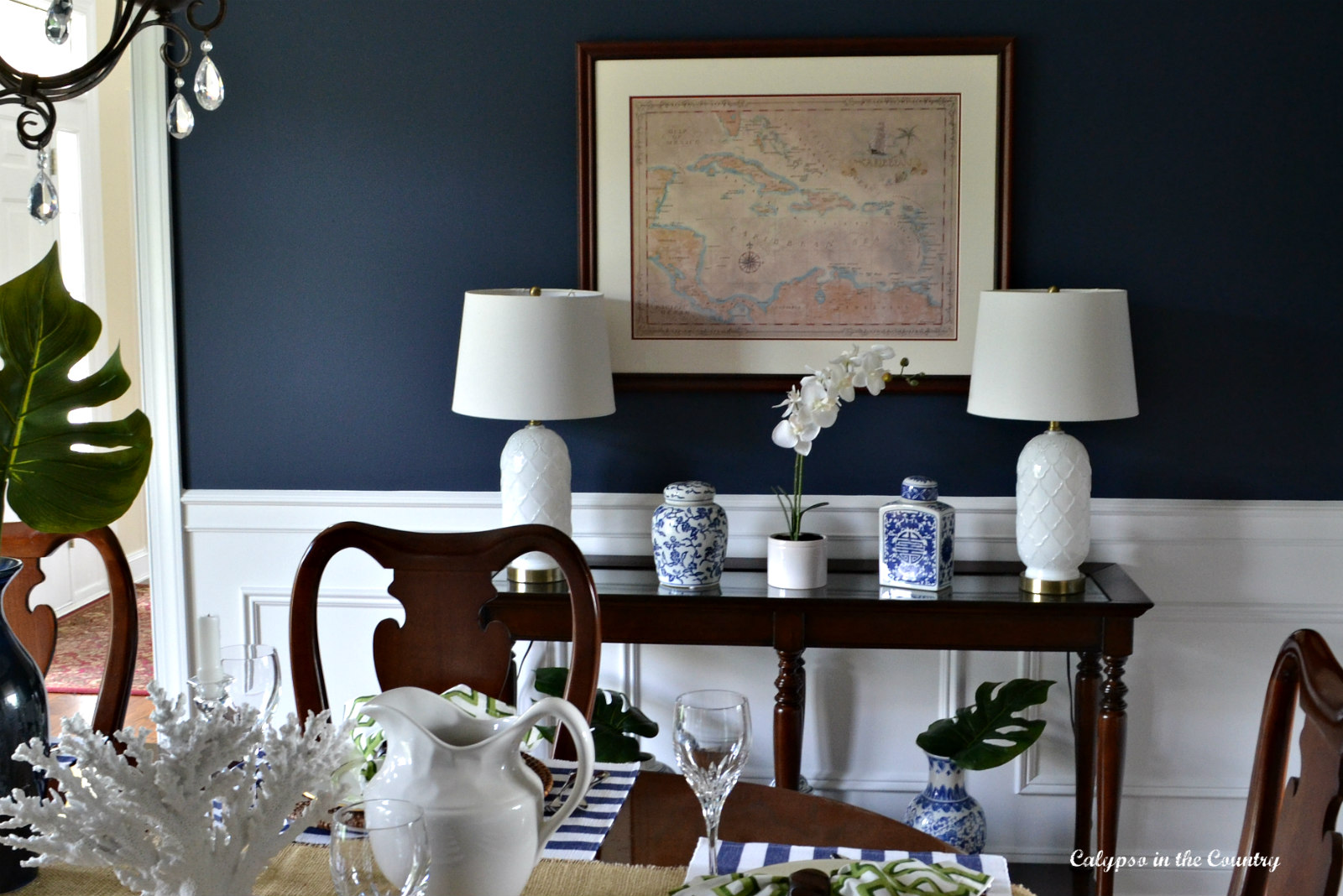 Navy Dining Room Reveal – One Room Challenge