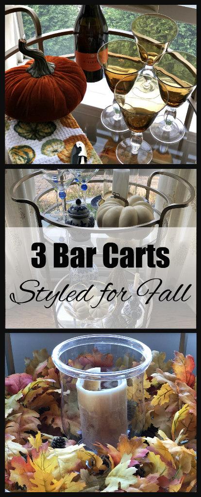 Bar Cart Inspiration for Fall