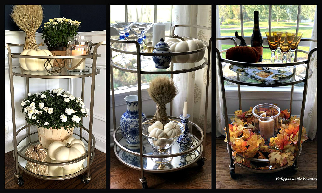 3 Ways to Style a Bar Cart for Fall