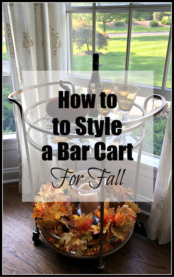 How to decorate a bar cart for fall