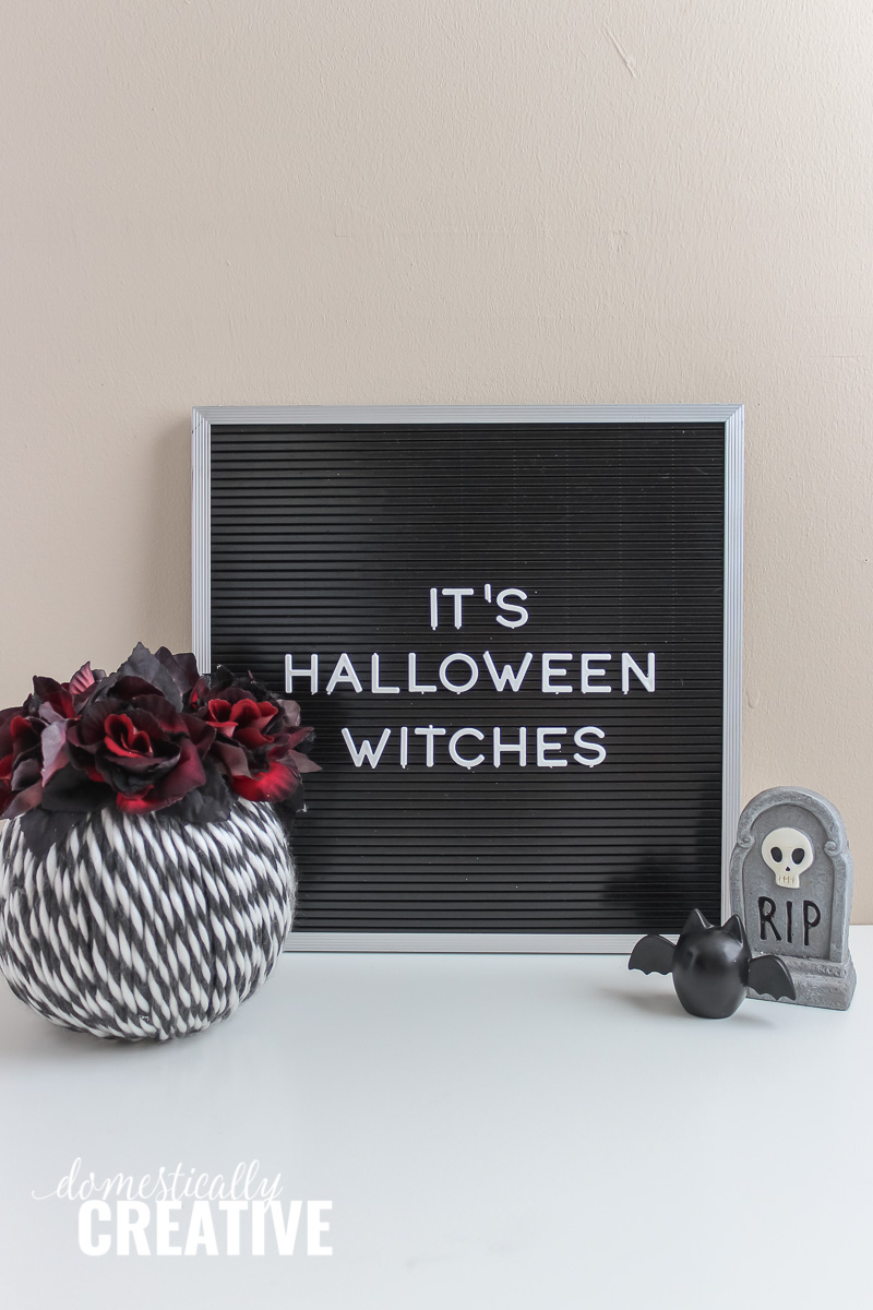 DIY Halloween Yarn Pumpkin