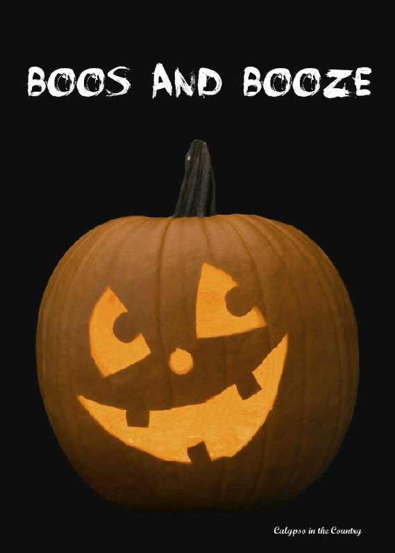Free Boos and Booze Halloween Printable