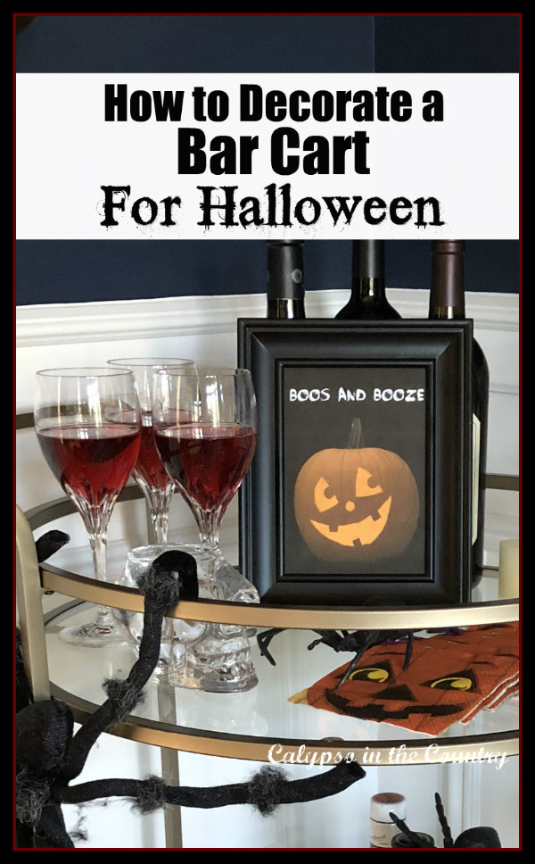 How to Decorate a Bar Cart for Halloween