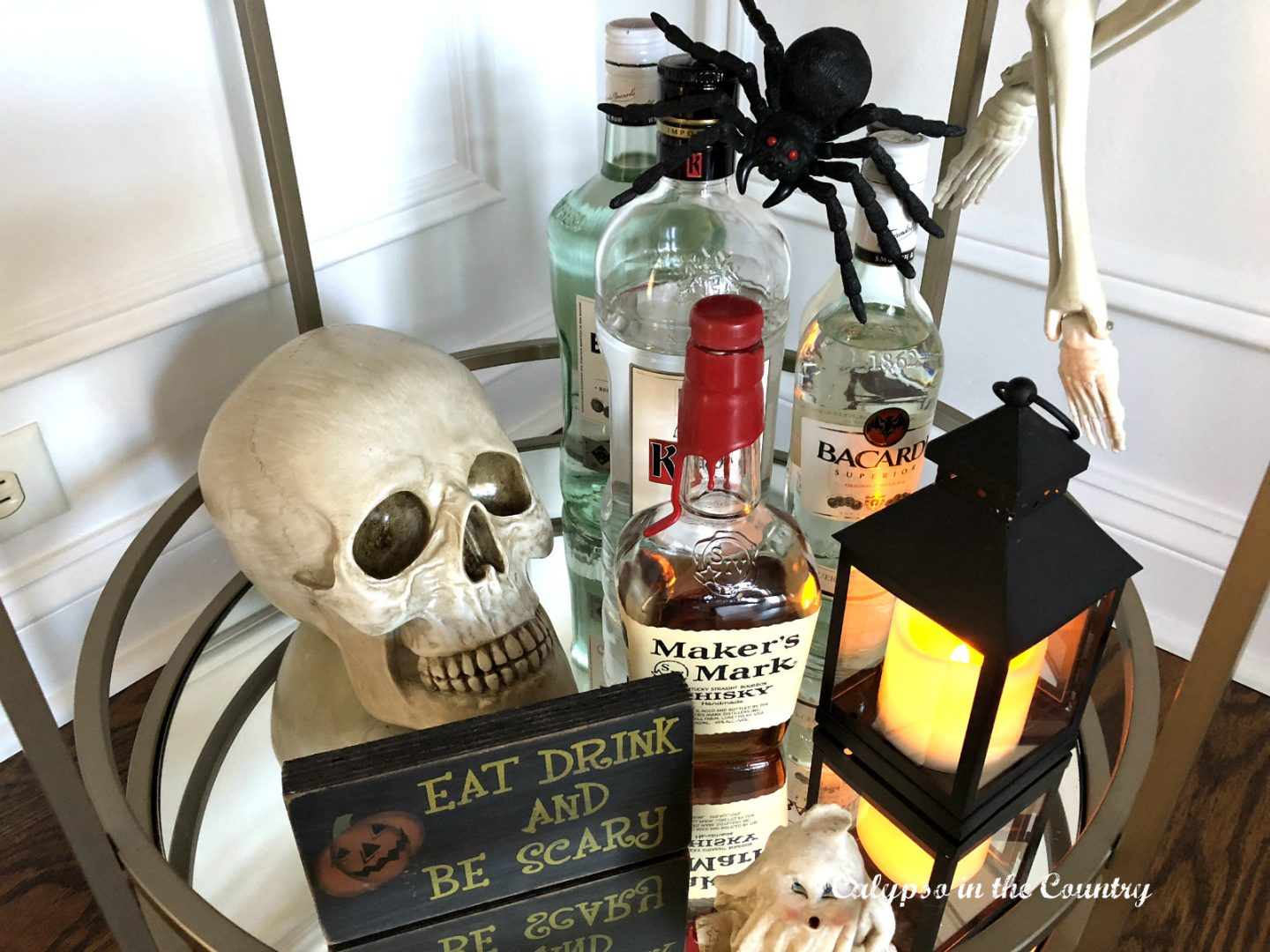 Boos for Booze bar cart
