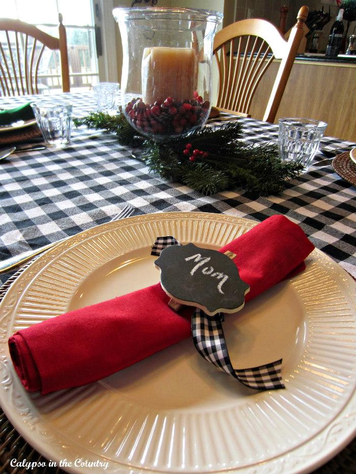 Simple Christmas breakfast table