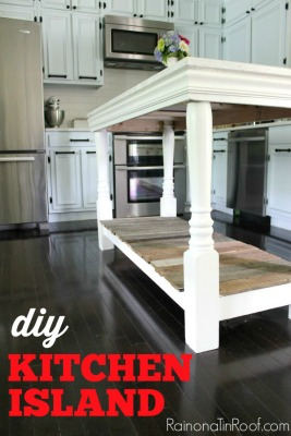 DIY Kitchen Island Feature