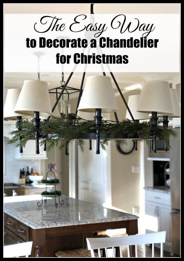 christmas chandelier decorating tips - The Easy Way to Decorate a Chandelier for Christmas
