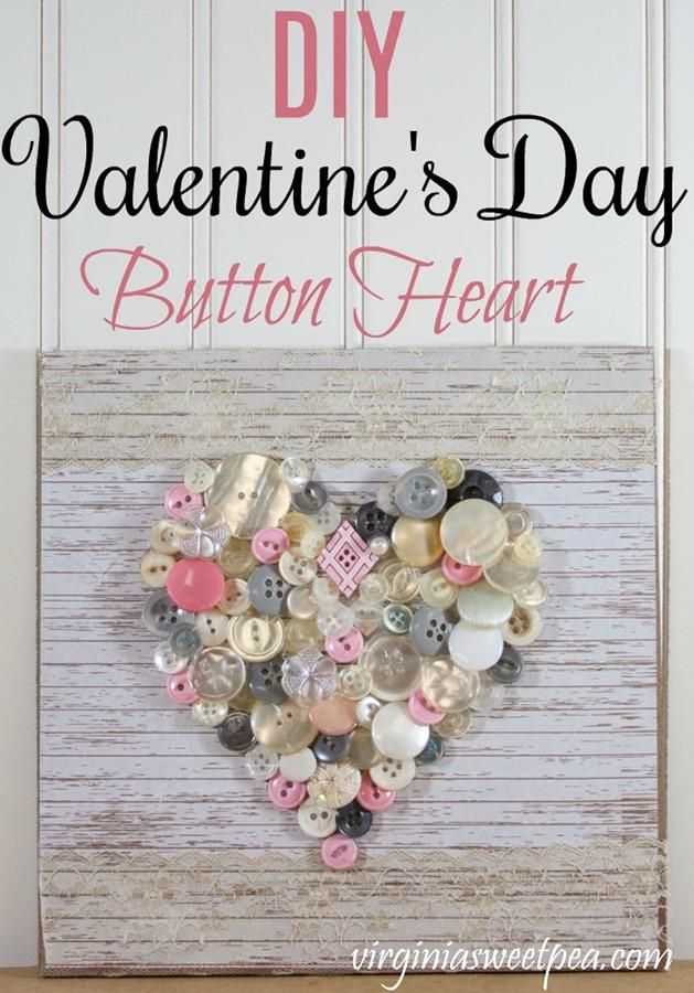 Valentine's Button heart