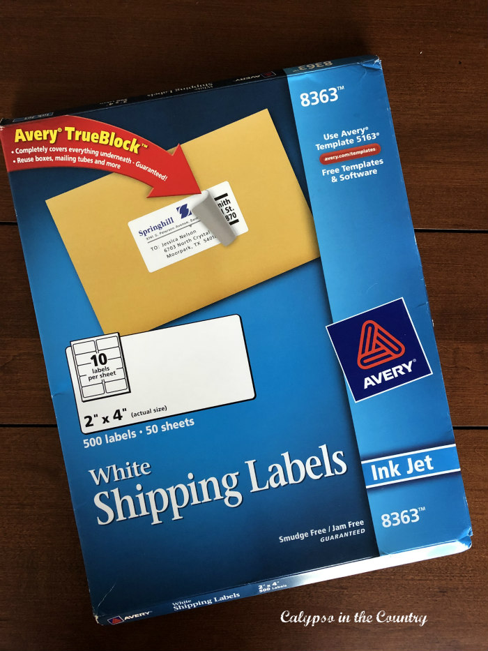 shipping labels for cards and things you can do now