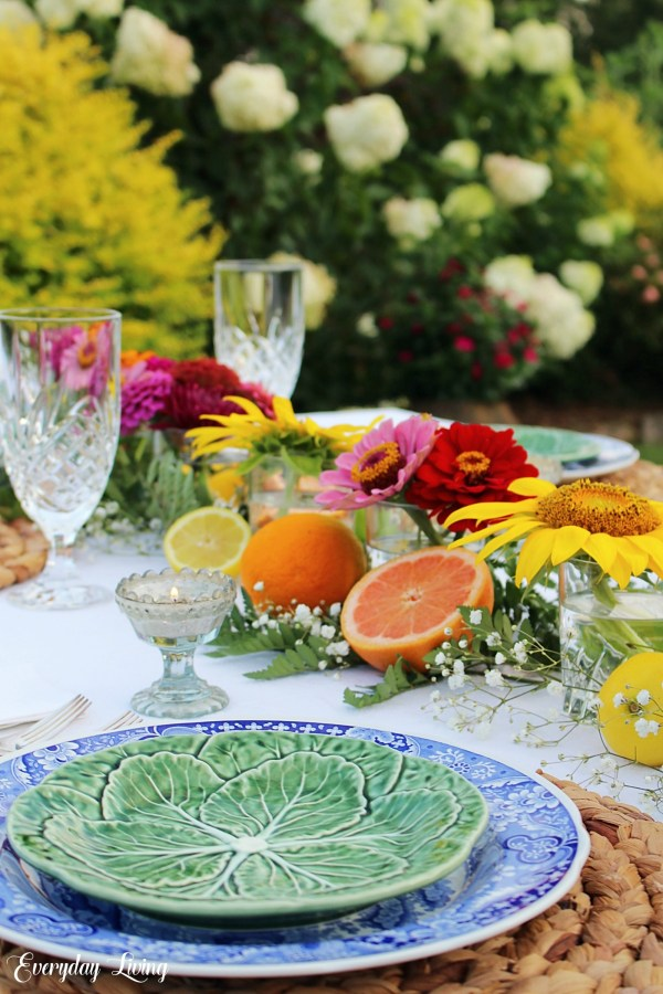 Tablescape and flowers