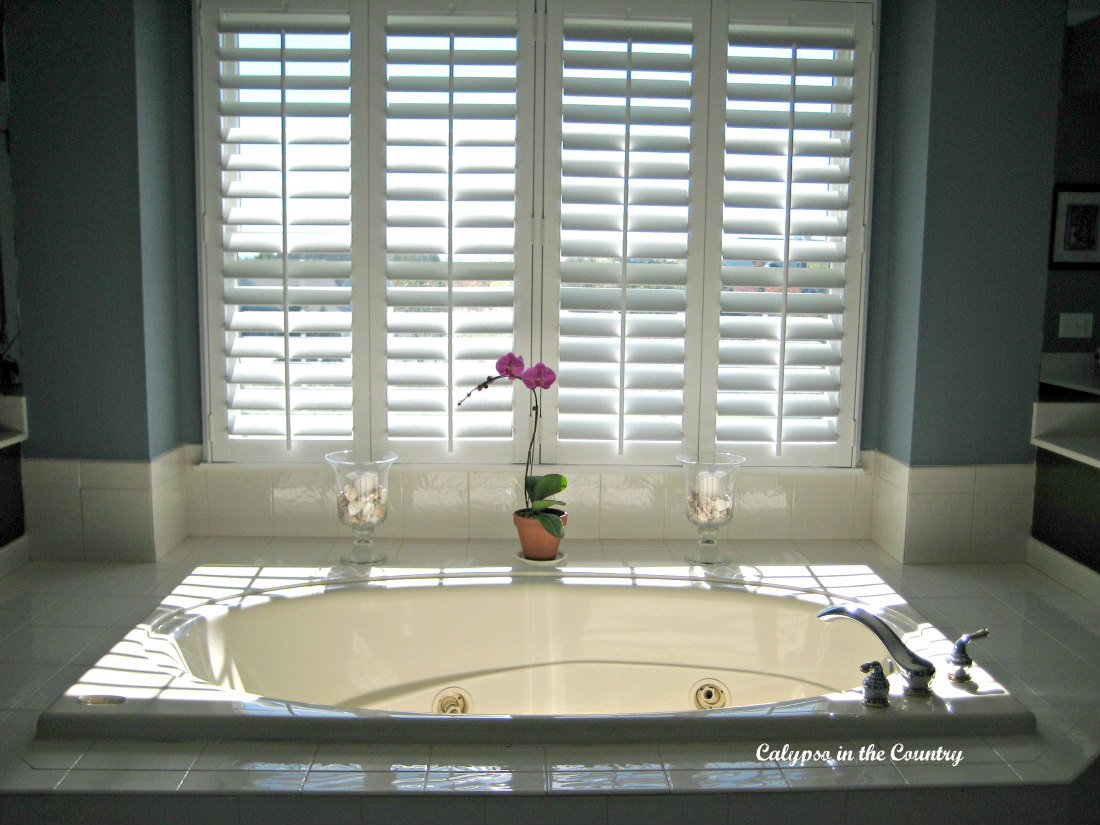 Plantation Shutters and Updating the Master Bathroom