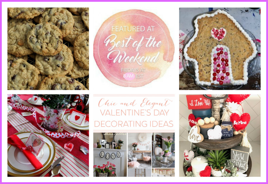 Valentine Ideas and More – Best of the Weekend Link Party 2/8/19