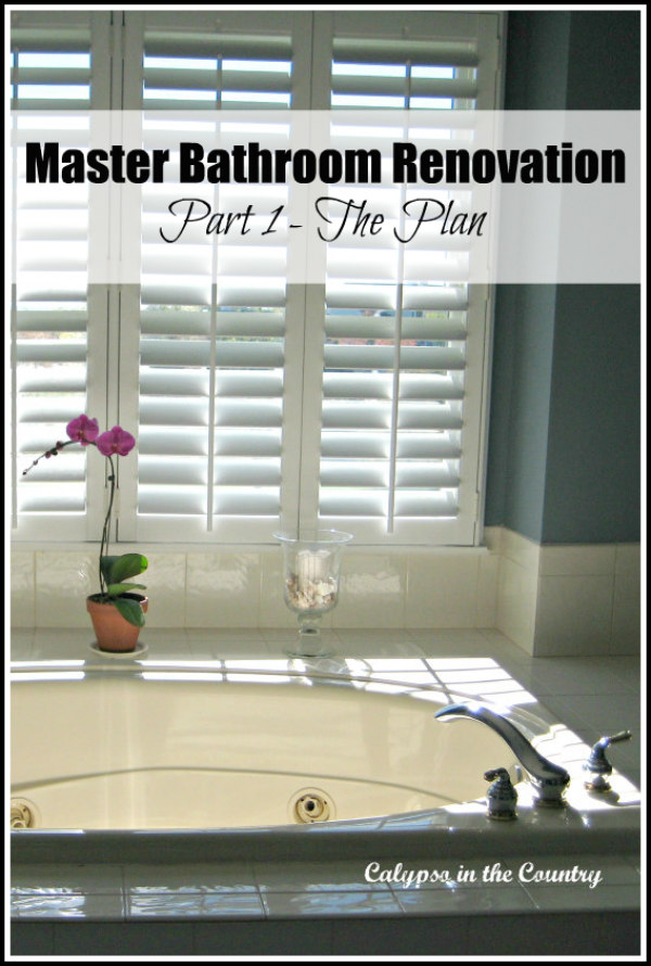 Plantation Shutters over Tub and master bathroom plans