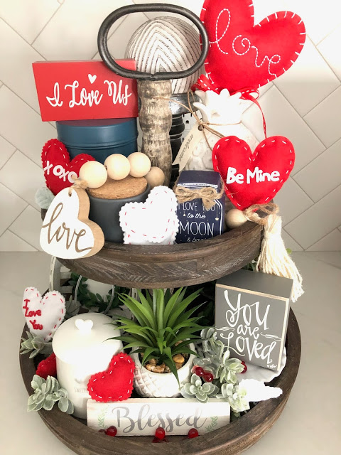 Valentine Tiered Tray