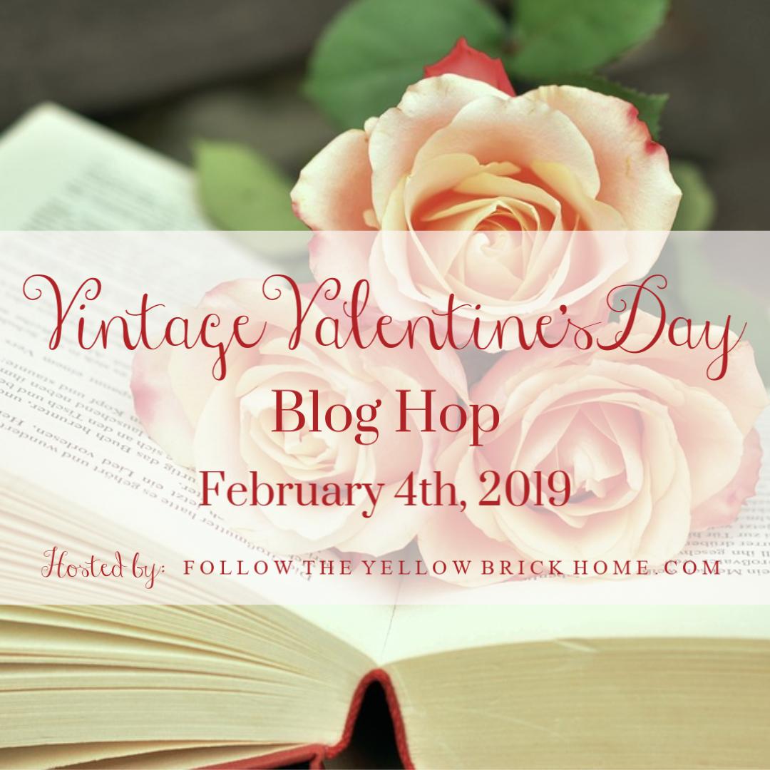 Vintage Valentine's Day Blog Hop Promo