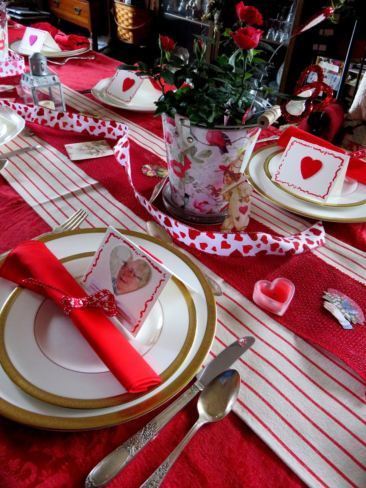 Wine Tasting and Red Valentine Table