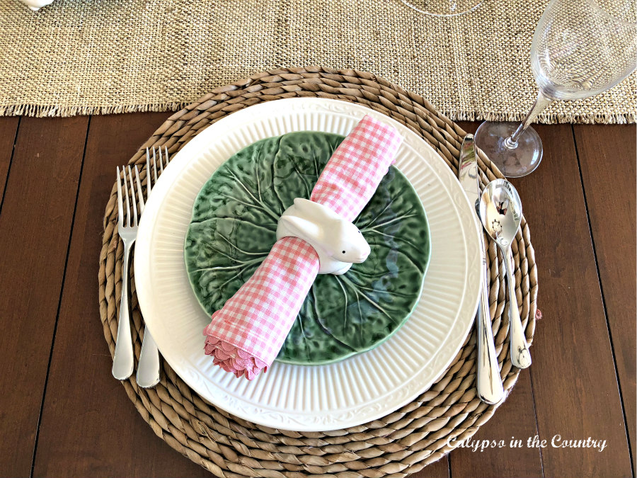 Place Setting with Bunnies