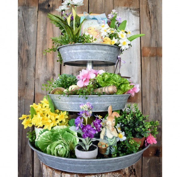Easter Tiered Tray
