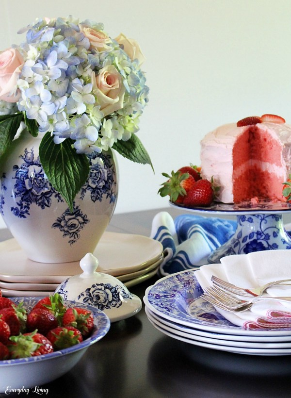 spring decor and tablesetting
