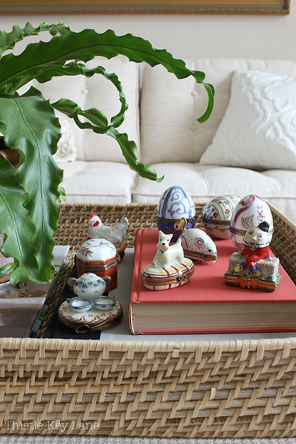 spring home tour and collectibles