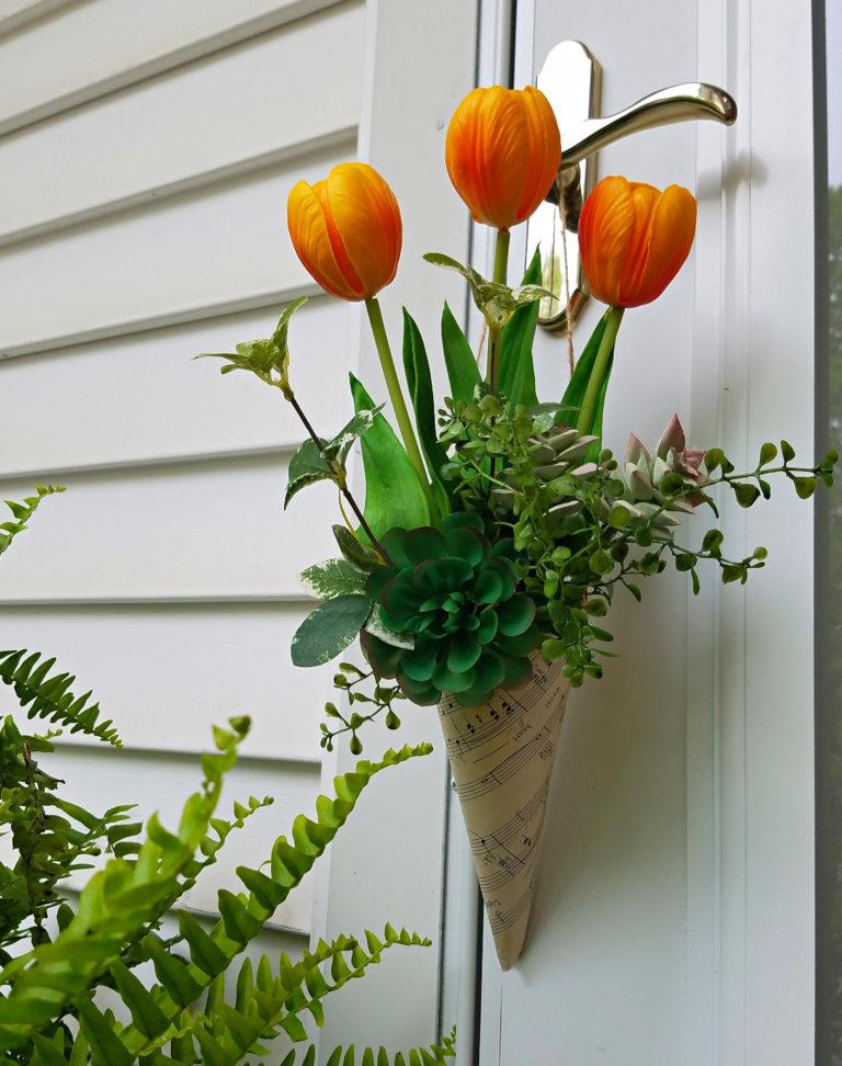 floral door hanging