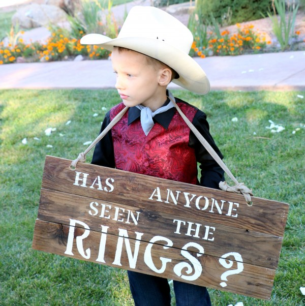 DIY Ring Bearer Pallet