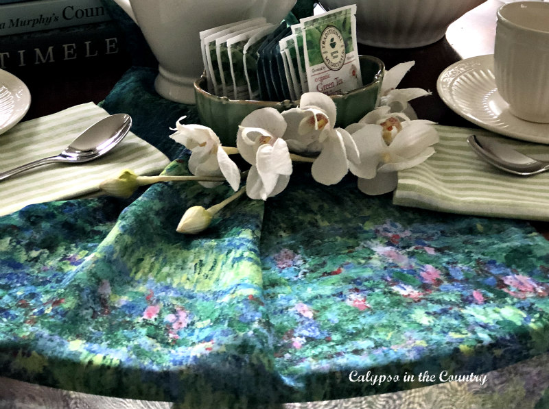 Monet scarf for tablecloth