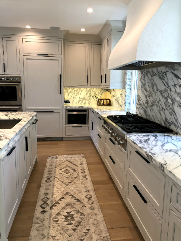 kitchen with marble