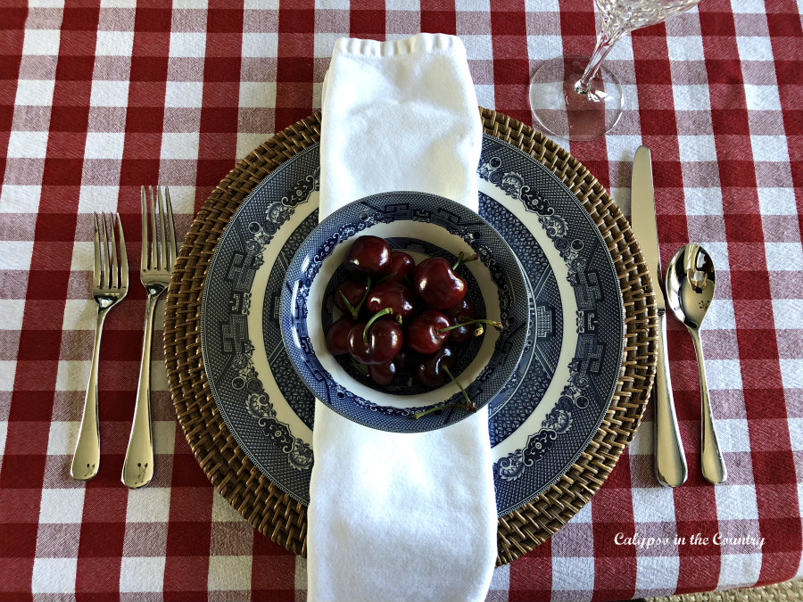 Red, White and Blue Place Setting