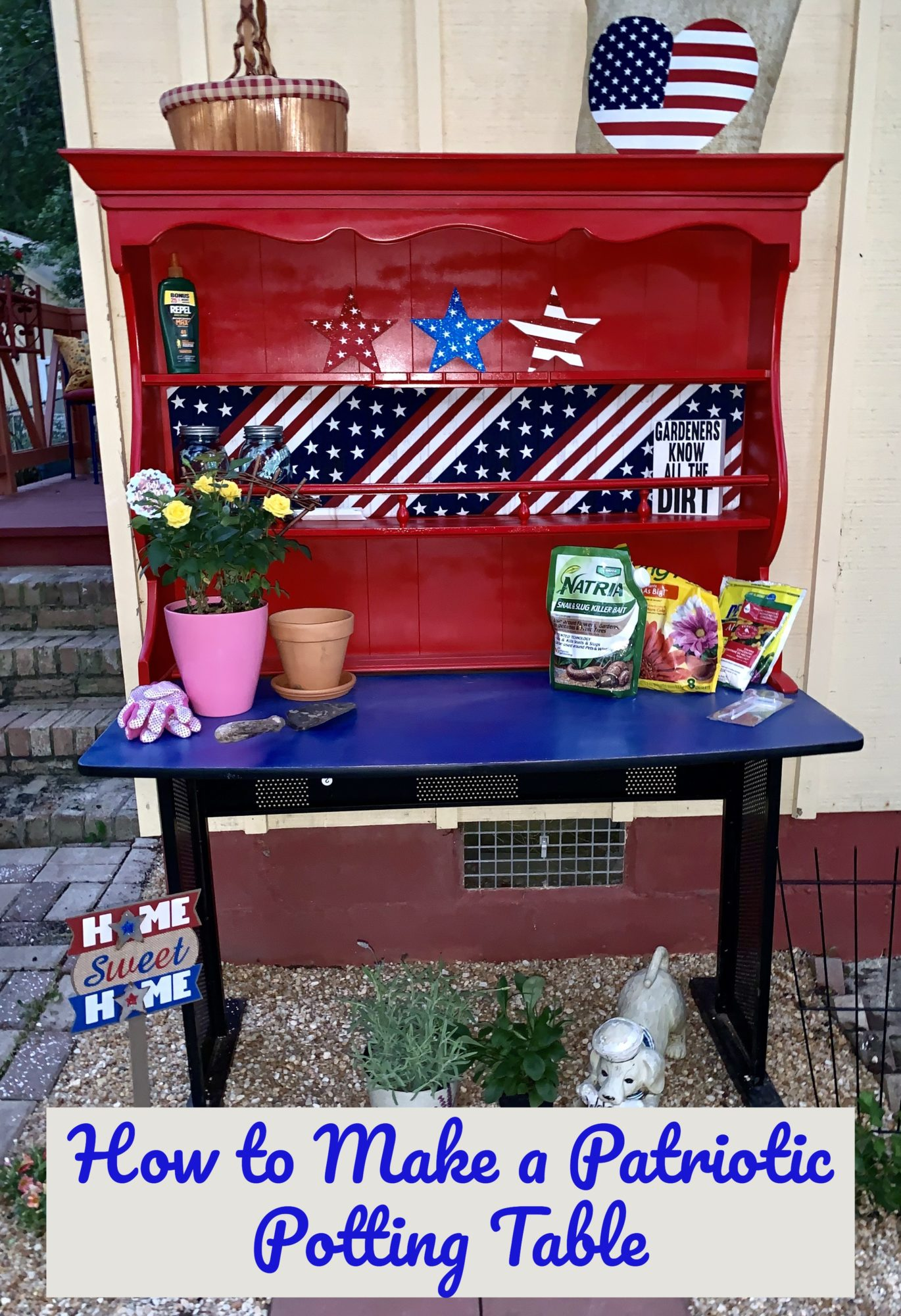 Patriotic Potting Table