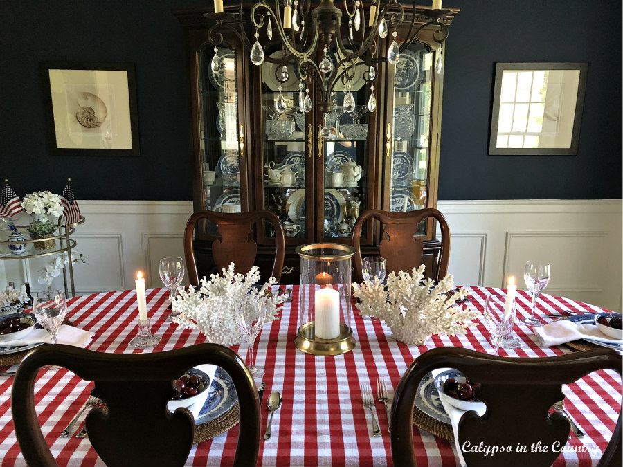 Patriotic Table in Navy Dining Room